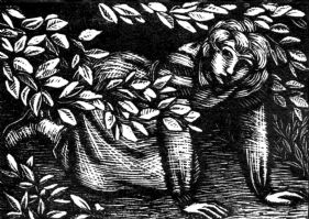 wood-engraving print: The Runaway for The Runaway